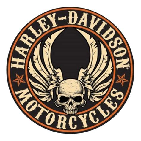 Harley Davidson Signs Decor by Harley Davidson 14 Quot Embossed Flying Skull Button