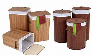Panier à Linge Bambou : panier linge en bambou groupon shopping ~ Dailycaller-alerts.com Idées de Décoration