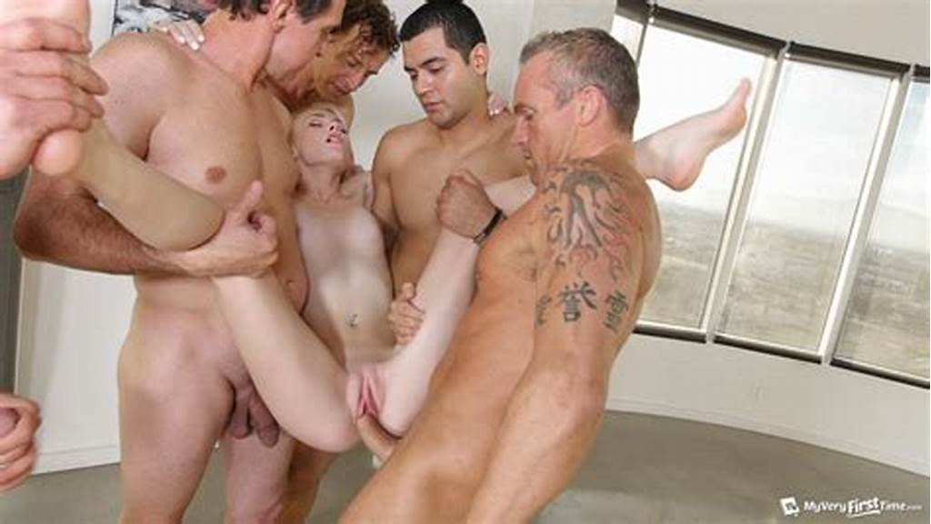 #Skinny #Teen #Maddy #Rose #First #Gangbang