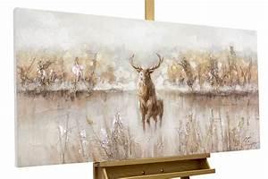Gemälde Hirsch Modern : handgemaltes bild hirsch braun kaufen kunstloft ~ Orissabook.com Haus und Dekorationen