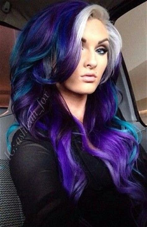 Best 20 Dyed Bangs Ideas On Pinterest Red Purple Hair