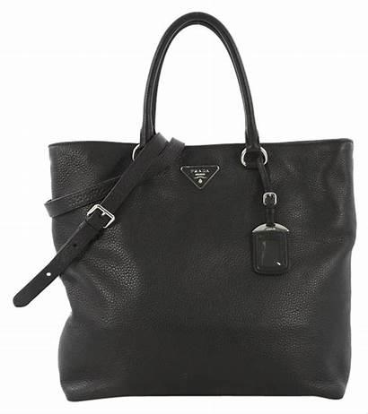 Prada Daino Vitello Tote Leather Shopper Convertible