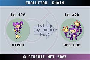 Pokemon Fire Red Evolve Chart Pokémon Of The Week Ambipom