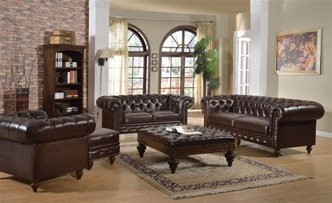 Ottoman Loveseat by Shantoria Sofa 51315 In Brown Bonded Leather By Acme