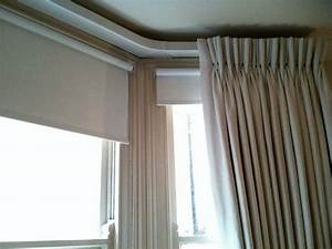 17 best images about bay window ideas on pinterest bay for Roller pleat curtains