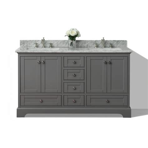 Double Sink Vanity Top 60 by Shop Ancerre Designs Audrey Sapphire Gray 60 In Undermount