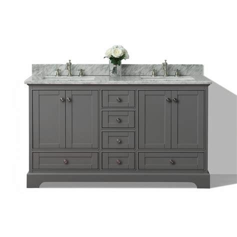 Sink Vanity Top 60 by Shop Ancerre Designs Sapphire Gray 60 In Undermount