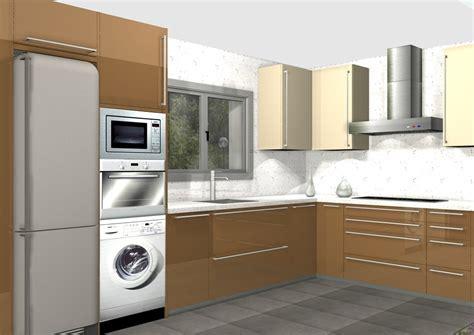 cuisina az la lavadora en la columna con el horno y el micro