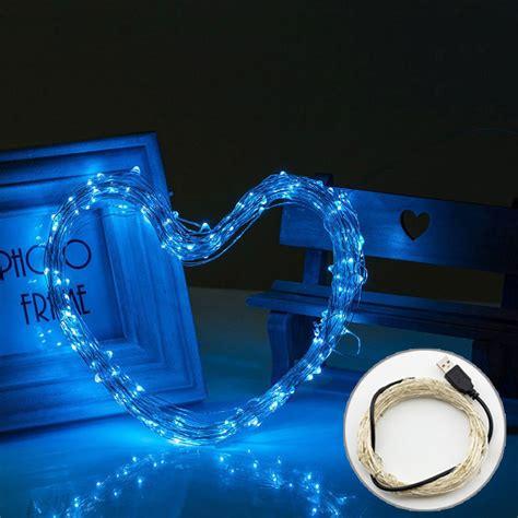 blue usb powered led string lights