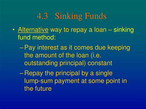 Define Annual Sinking Fund by Ppt Chapter 4 Amortization And Sinking Funds Powerpoint