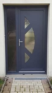 installation d39une porte d39entree pvc gris anthracite ral With porte d entrée pvc en utilisant porte fenetre gris anthracite