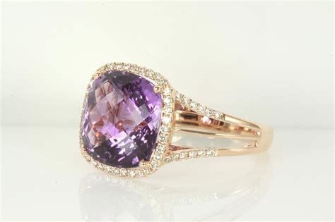 Amethyst And Diamond Ring  First State Auctions