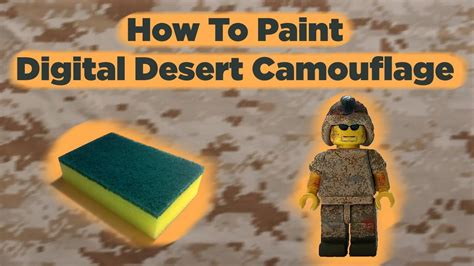 How To Paint Digital Desert Camouflage Youtube
