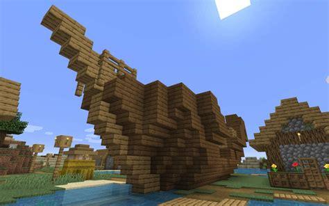 sunken ship   village minecraft  seed minecraftgamescouk