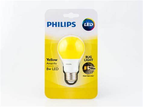 philips non dimmable 8w yellow a19 bug light led bulb