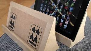 Objet En Carton Facile A Faire : fabriquer un support de tablette num rique en carton ~ Melissatoandfro.com Idées de Décoration