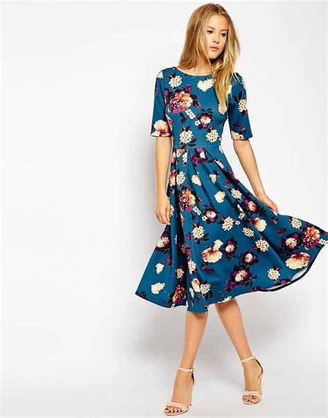 closet closet scuba midi dress in floral print at asos