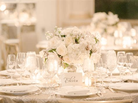 white table decorations for weddings white table setting reception ideas elizabeth 1357