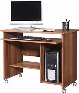 Schreibtisch Mit Druckerfach : schreibtisch computertisch b rom bel walnuss ~ Michelbontemps.com Haus und Dekorationen