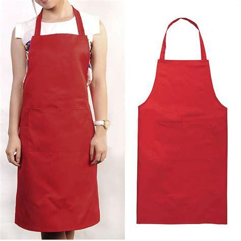 what is an apron women men unisex kitchen restaurant solid apron bib pocket