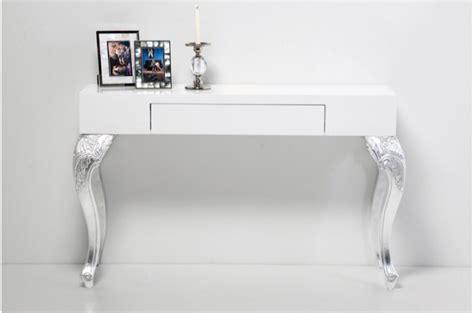 bureau baroque pas cher console bureau design blanc