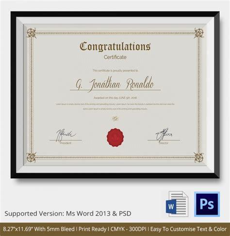 congratulations certificate templates sample congratulations certificate 22 documents in pdf