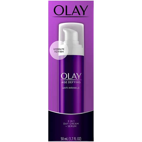 Olay Age-Defying Anti-Wrinkle Day Cream + Serum, 2 In 1, 1