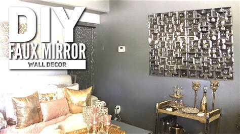 diy dollar tree faux mirror zgallerie inspired home decor  youtube