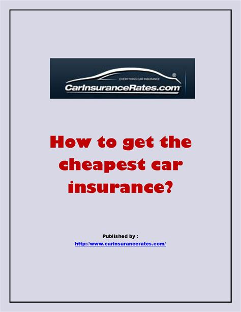 How to get the cheapest car insurance.pdf PowerPoint