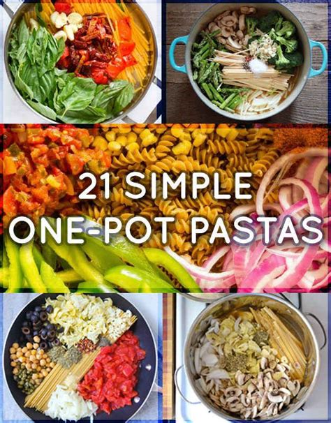 easy one pot meal recipes 21 simple one pot pastas