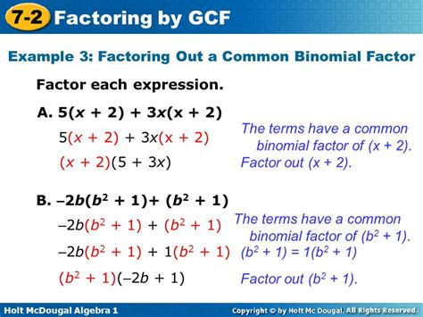 Objective Factor Polynomials By Using The Greatest Common Factor  Ppt Video Online Download