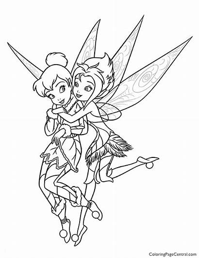 Tinkerbell Coloring Periwinkle