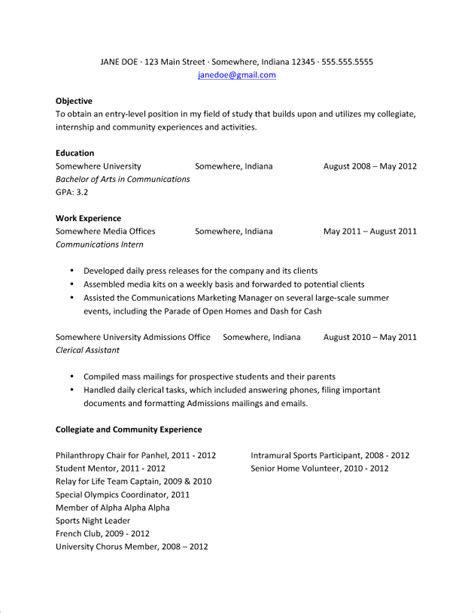 Resume Objective For Graduate Student by 11 Graduate Student Resume Objective Invoice Template