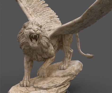 Babylon Statue Winged Lion Sculpture Statue Daniel 7 Beast