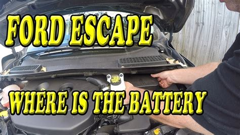 ford escape    battery located youtube