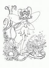 Coloring Fairy Adults sketch template