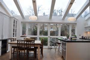 extensions kitchen ideas kitchen extension with large doors and velux windows pictures to pin on