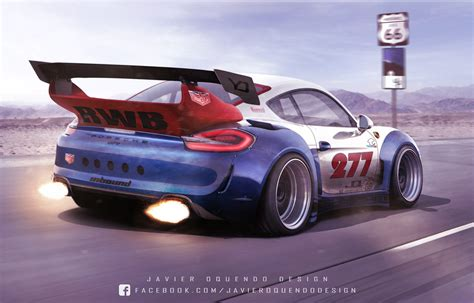 Rauh-Welt Begriff Porsche Cayman GT4 Rendering Is Absurdly ...