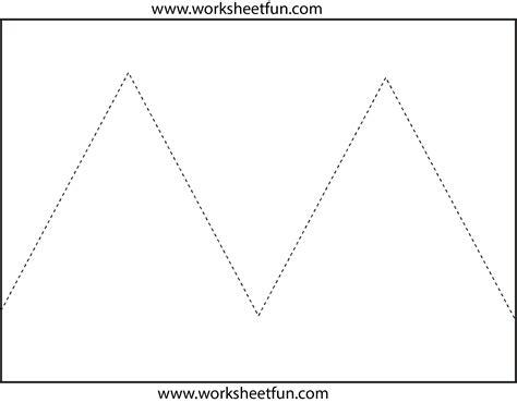 zig zag  tracing  worksheets  printable