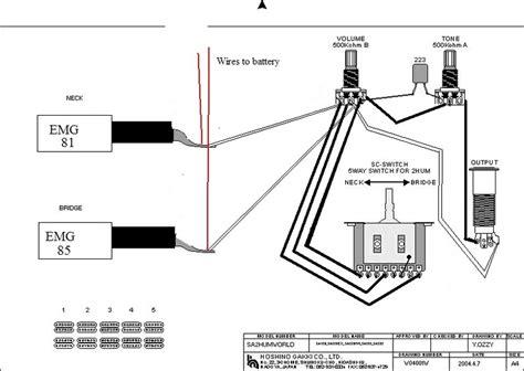 emg hz wiring diagram 29 wiring diagram images