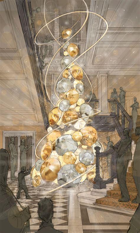british designer  decorating claridges christmas