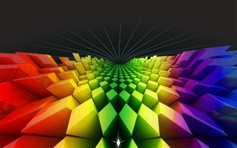 wallpapers: Geometry Rainbow Colours Wallpapers
