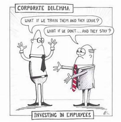 Development Personal Importance Training Dilemma Corporate Cartoon