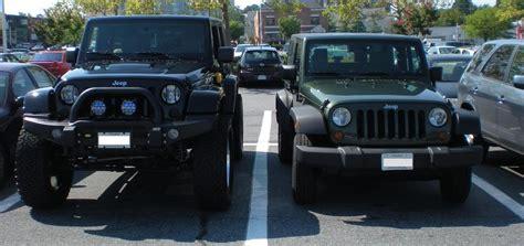 stock jeep vs lifted how to spotlight jk beginniner modifications jk forum