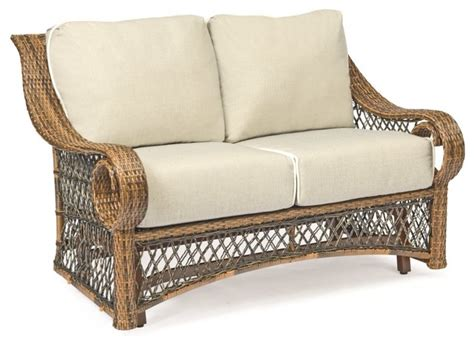 Woodard Belmar All Weather Wicker Gliding Loveseat
