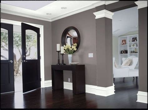 dark wood gray walls  white trim love  decorating home house house styles