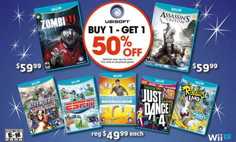 Gamestop Offers Buy One Get One Half Off On Wii U Games