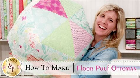 How To Make A Floor Pouf Ottoman  A Shabby Fabrics Sewing