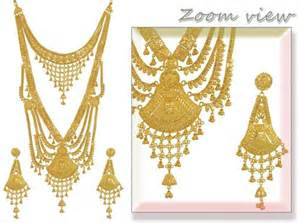 gold earring design with price 22k gold bridal set rani haar ajns53735 22k gold