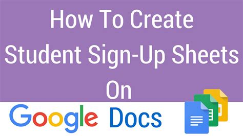google forms sign up how to create a student sign up sheet on google docs youtube